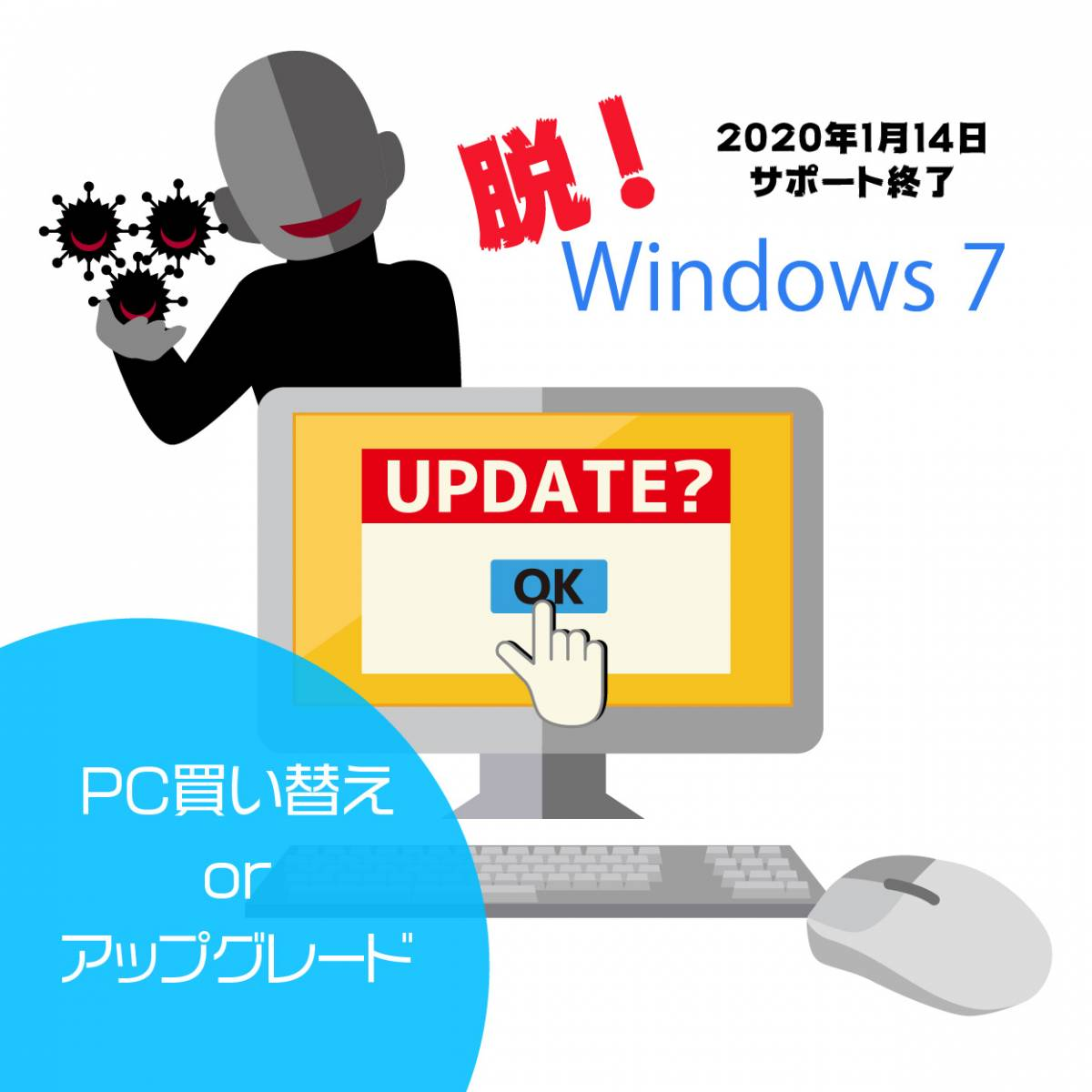 Windows 7を卒業しよう